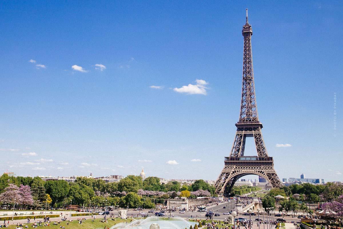 Selfie Orte in Paris - Bunte Häuser, Eiffelturm & Blick über Paris